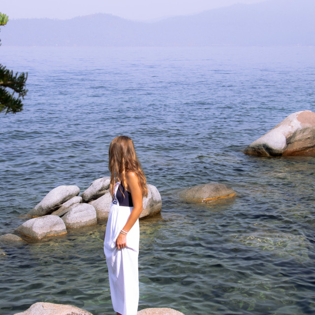 """Lake tahoe girl"" stock image"