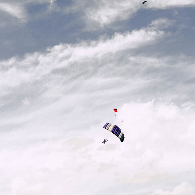 """""""Skydivers"""" stock image"""