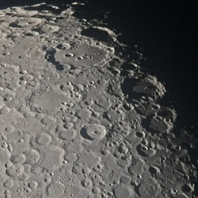 """""""Moon's craters"""" stock image"""