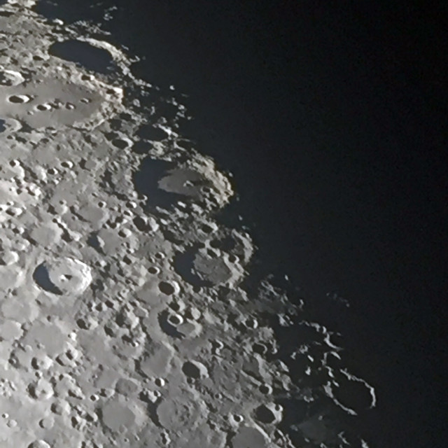 """""""Second wide angle crater shot"""" stock image"""