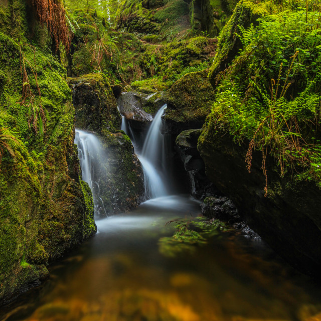 """Puck's Glen waterfall"" stock image"