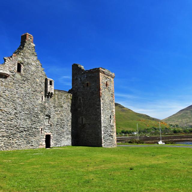 """""""Lochranza Castle"""" stock image"""