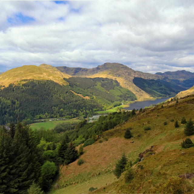 """View over Loch Eck and Benmore"" stock image"