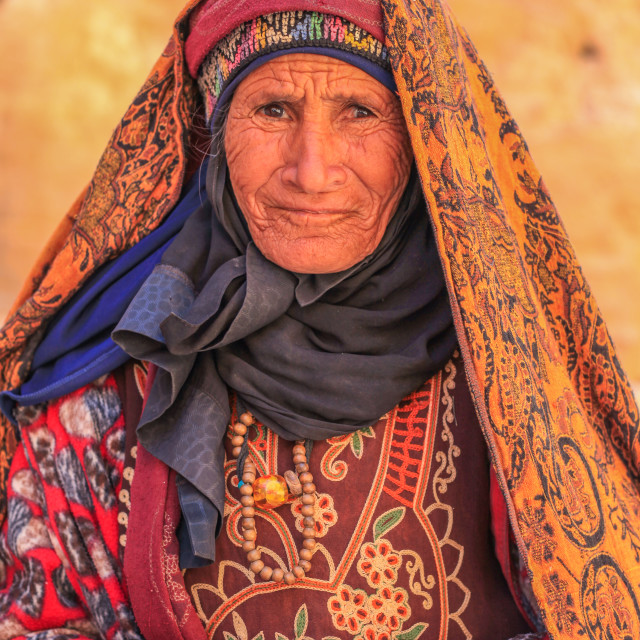 """Bedouin women in a traditional dress"" stock image"