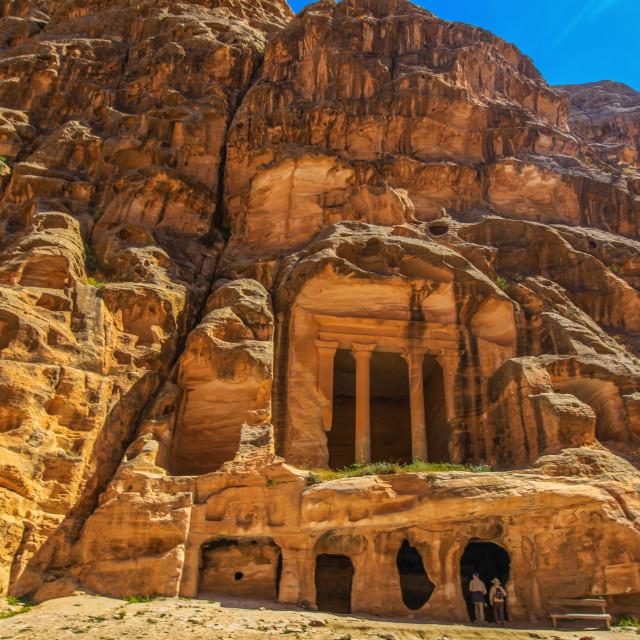 """""""Al Beida (Little Petra)"""" stock image"""