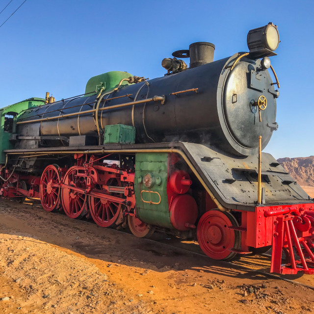 """Old steam locomotive"" stock image"