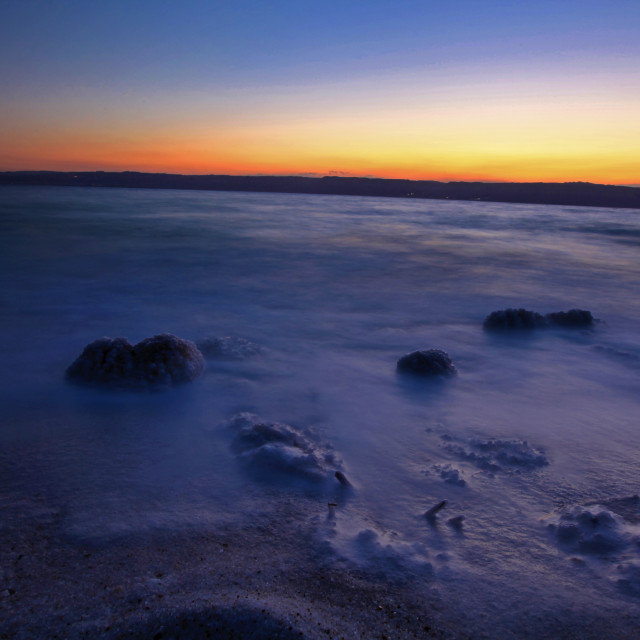 """""""Sunset view of Dead Sea"""" stock image"""