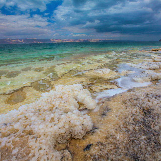 """Salt formations in the Dead Sea"" stock image"