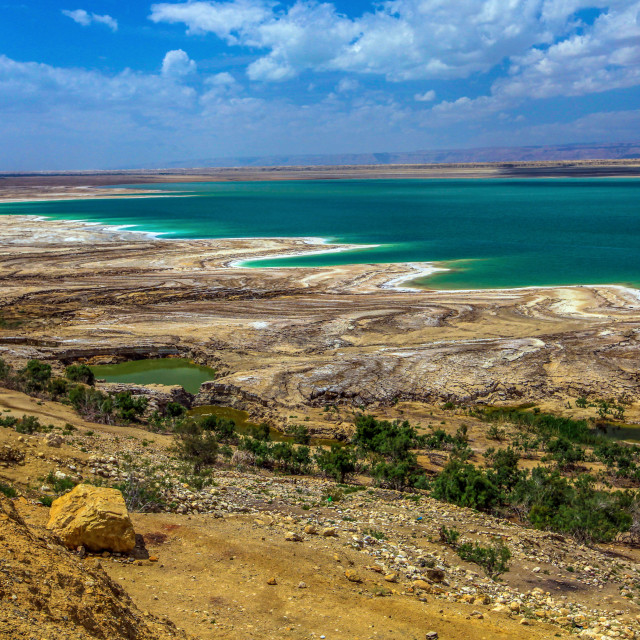 """View of the Dead Sea"" stock image"