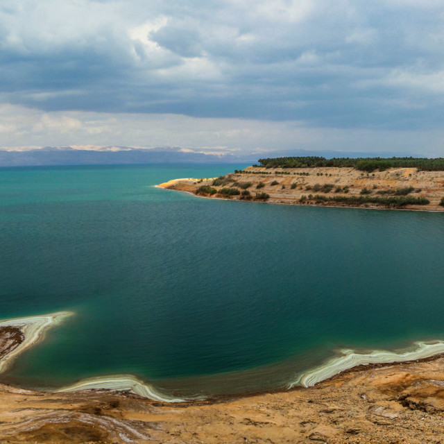 """""""View of the Dead Sea"""" stock image"""