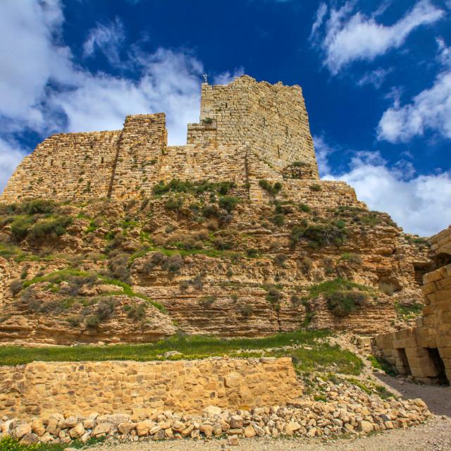 """""""Crusader castle Kerak"""" stock image"""