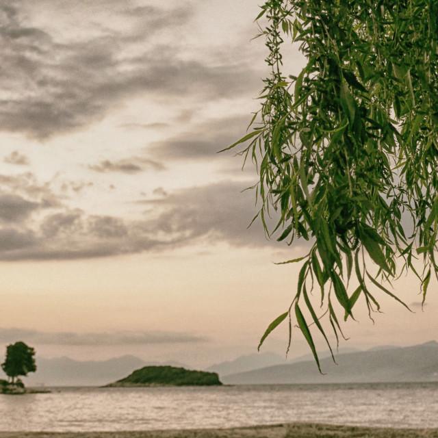 """The Albanian Coast"" stock image"