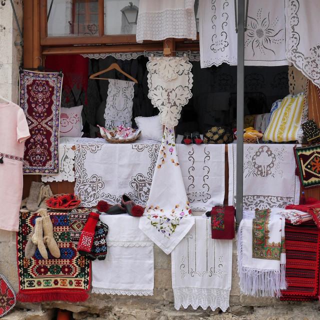 """Albanian Lace in Berat"" stock image"