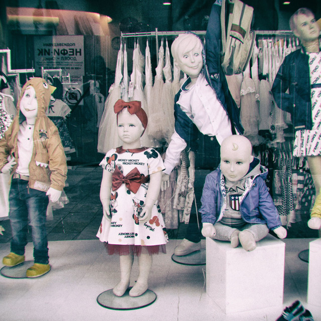 """""""Creepy Store Mannequins"""" stock image"""