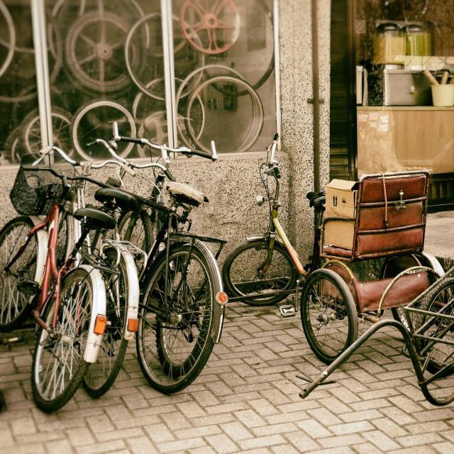 """Vintage Bicycle in Bar, Montenegro"" stock image"