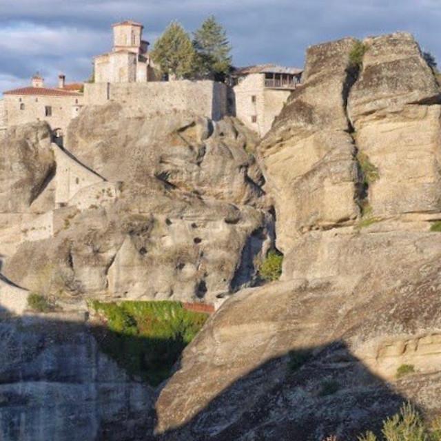 """Monastery in Kalabaka, Greece"" stock image"