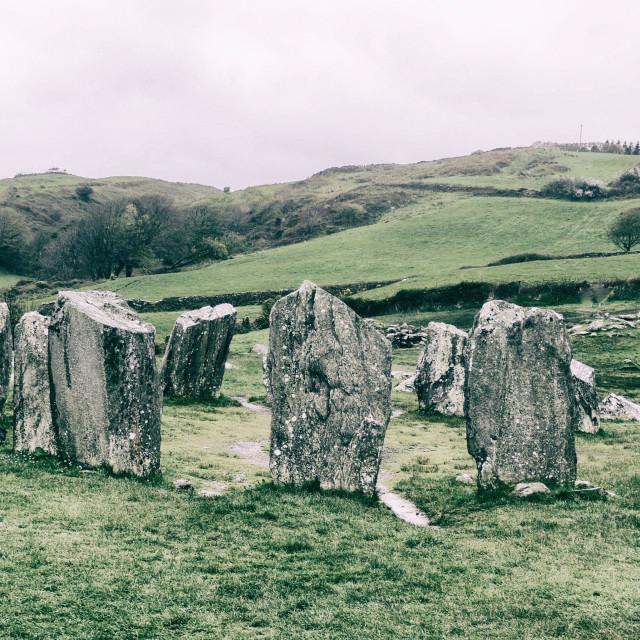 """""""Standing Stones in Ireland"""" stock image"""