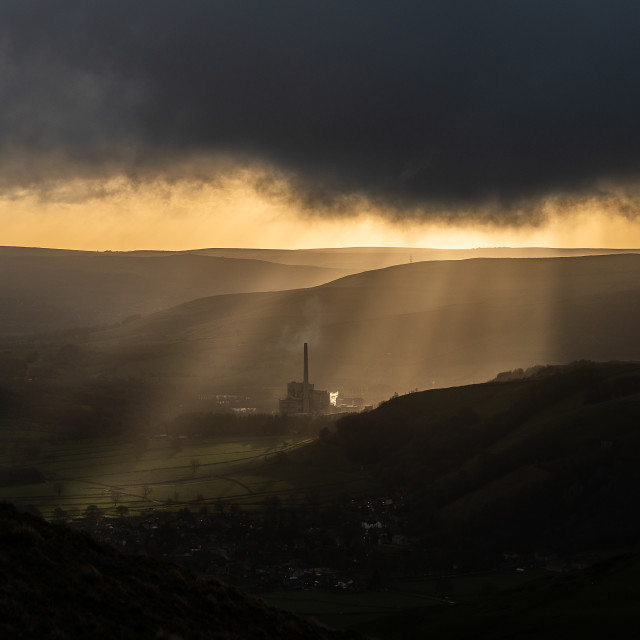 """Castleton Cement Works"" stock image"