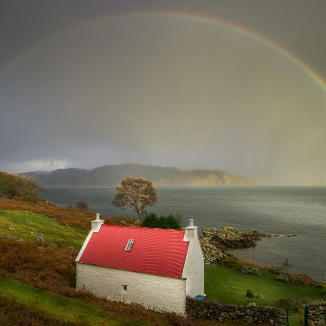 """""""Torridon Rainbow"""" stock image"""