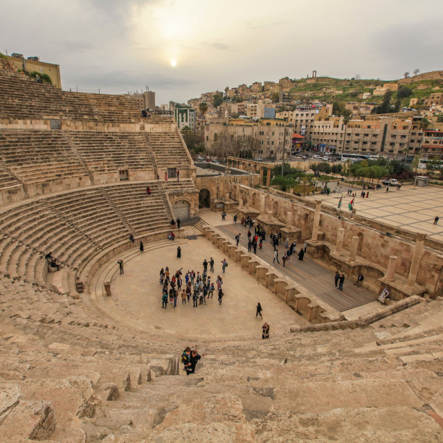 """Roman Theater in Amman"" stock image"