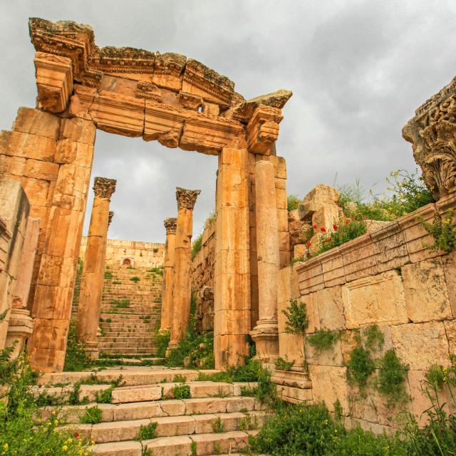 """Jerash ruins"" stock image"