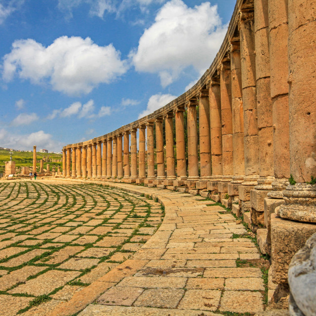"""The Oval Forum, Jerash"" stock image"
