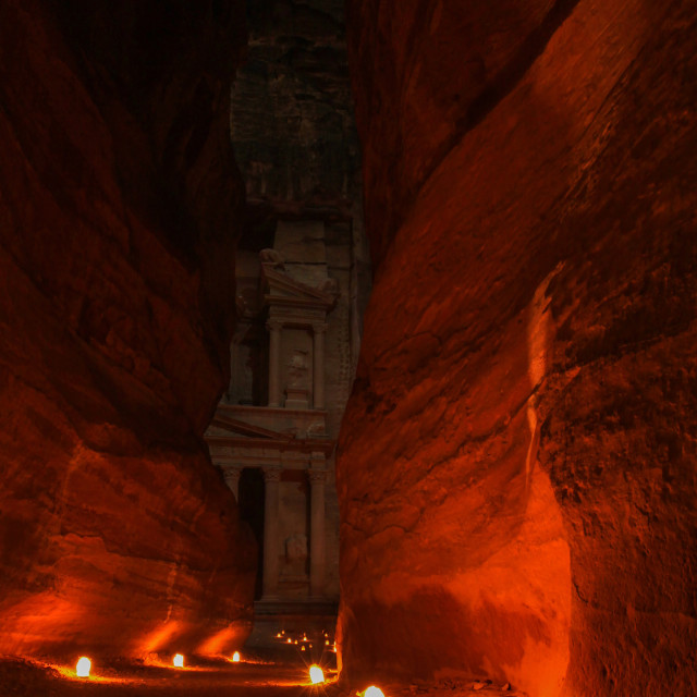 """Al-Khazneh (The Treasury), Petra"" stock image"