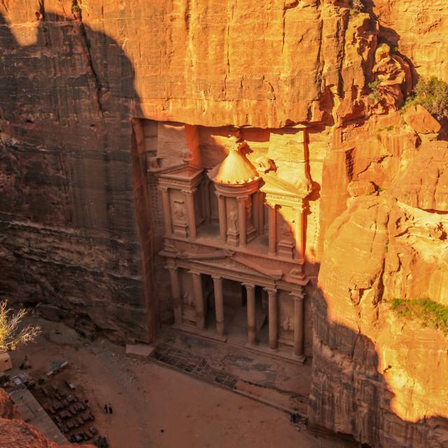 """""""Al-Khazneh (The Treasury), Petra"""" stock image"""