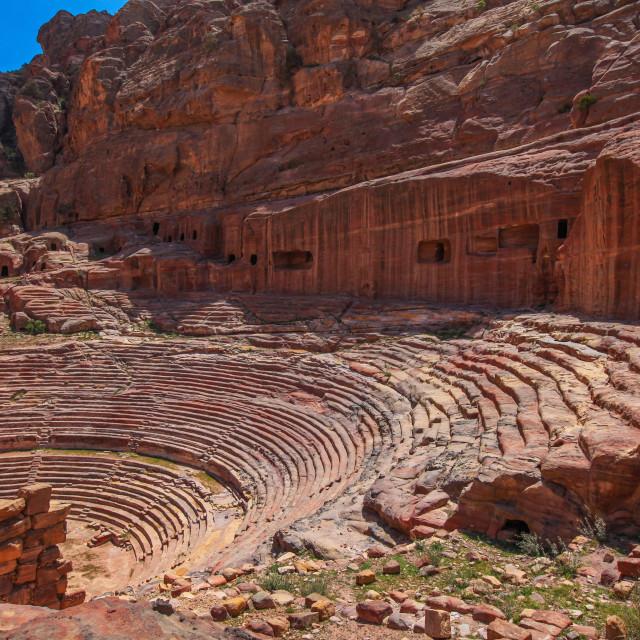 """Roman Amphitheatre in Petra"" stock image"