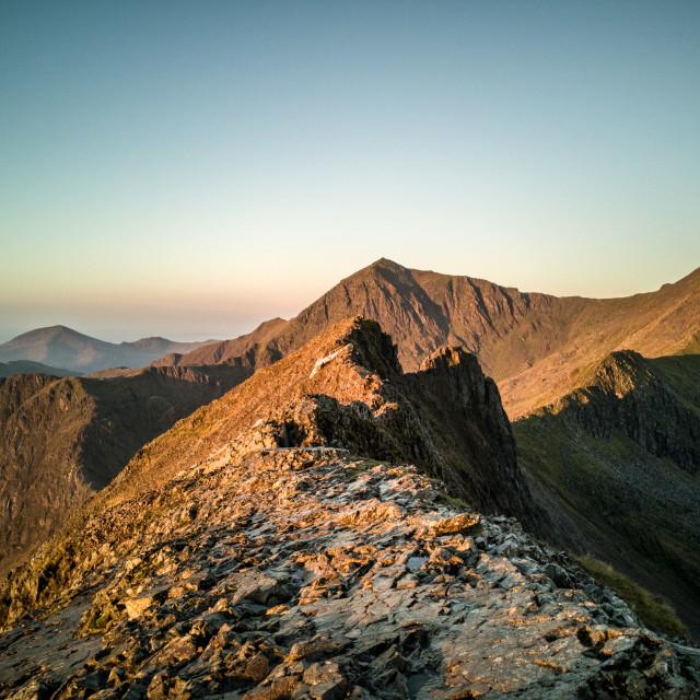 """Snowdon massif sunrise."" stock image"
