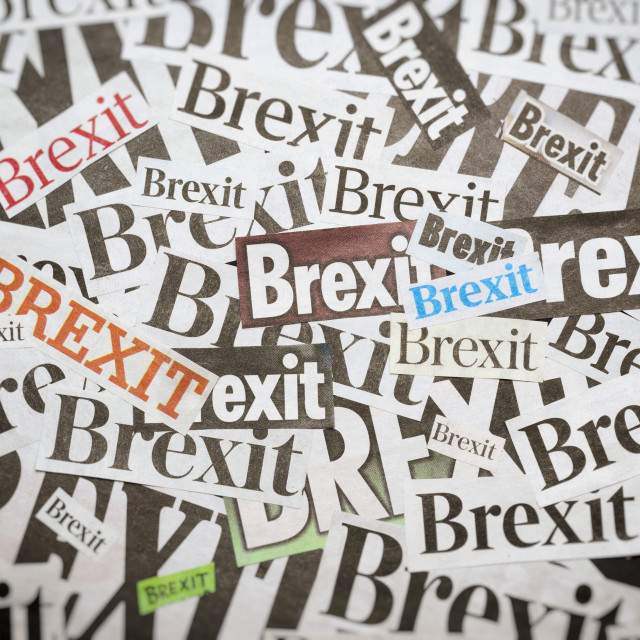 """""""The word Brexit"""" stock image"""