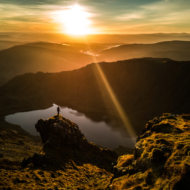 """Cadair Idris sunrise"" stock image"