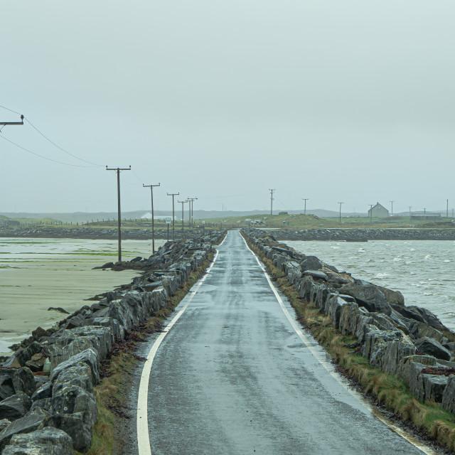 """Hebridean Causeway"" stock image"