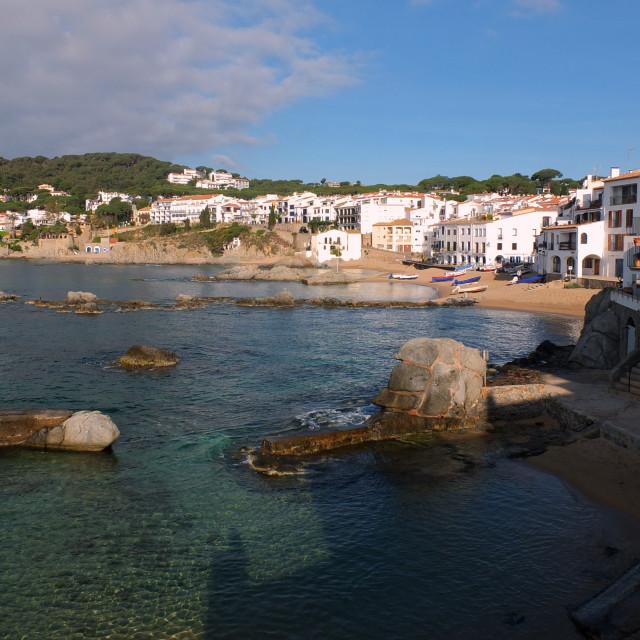 """""""View Across Calella De Palafrugell"""" stock image"""