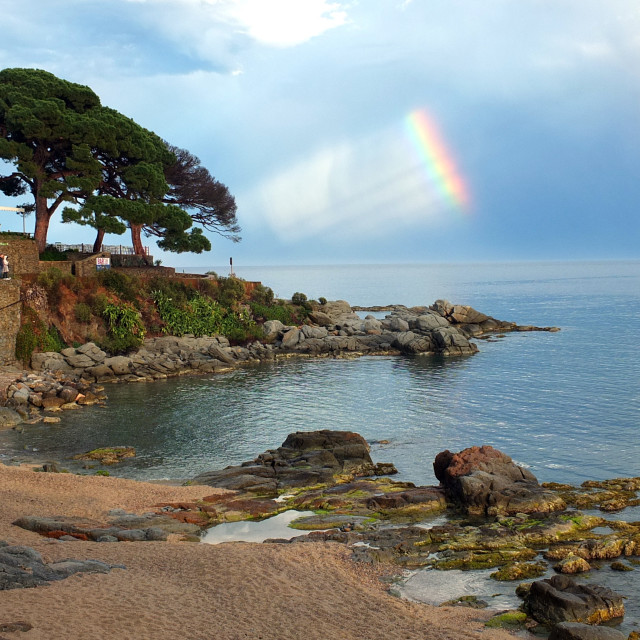 """""""Clearing Skies After The Storm Over Calella"""" stock image"""