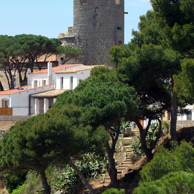 """""""Calella Tower View"""" stock image"""