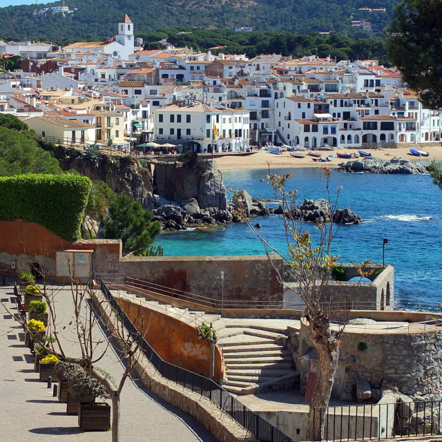 """""""Calella De Palafrugell From San Roc Steps"""" stock image"""