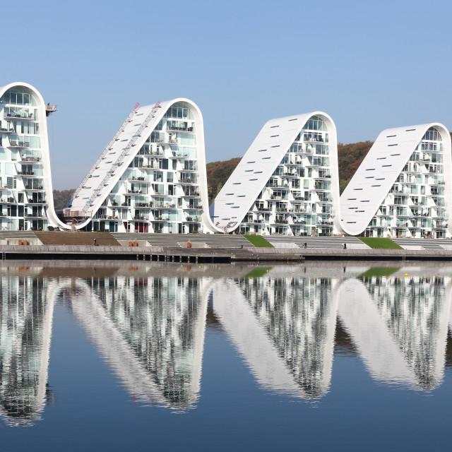 """The Wave building in Vejle, Demark"" stock image"
