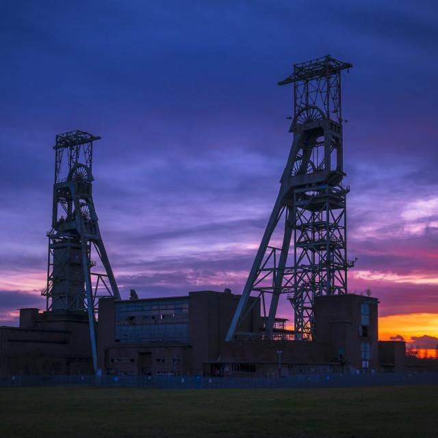 """Clipstone Colliery headstocks"" stock image"