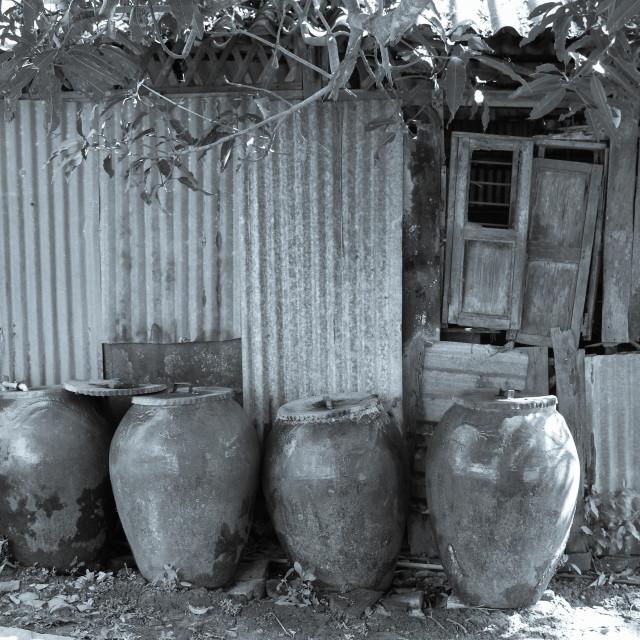 """""""Very old ceramic jars"""" stock image"""