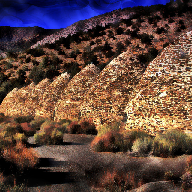 """Juniper ovens. Death Valley"" stock image"