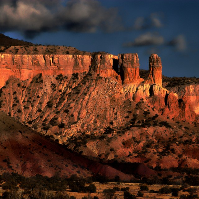 """""""Butte in New Mexico"""" stock image"""