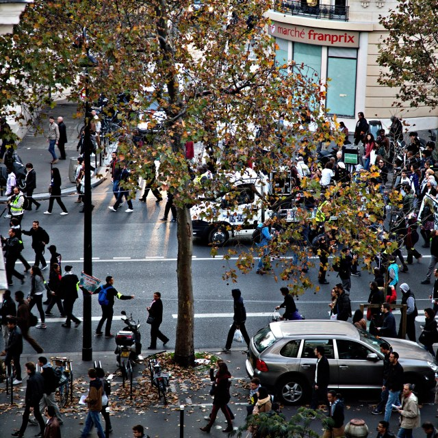 """Paris Demonstration"" stock image"