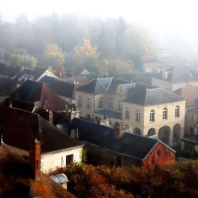 """Commune la Roche Guyon"" stock image"