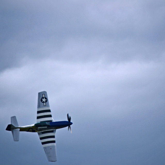 """P-51d Mustang fighter."" stock image"