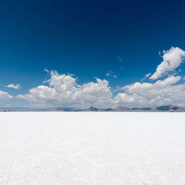 """Bonneville Salt Flats"" stock image"