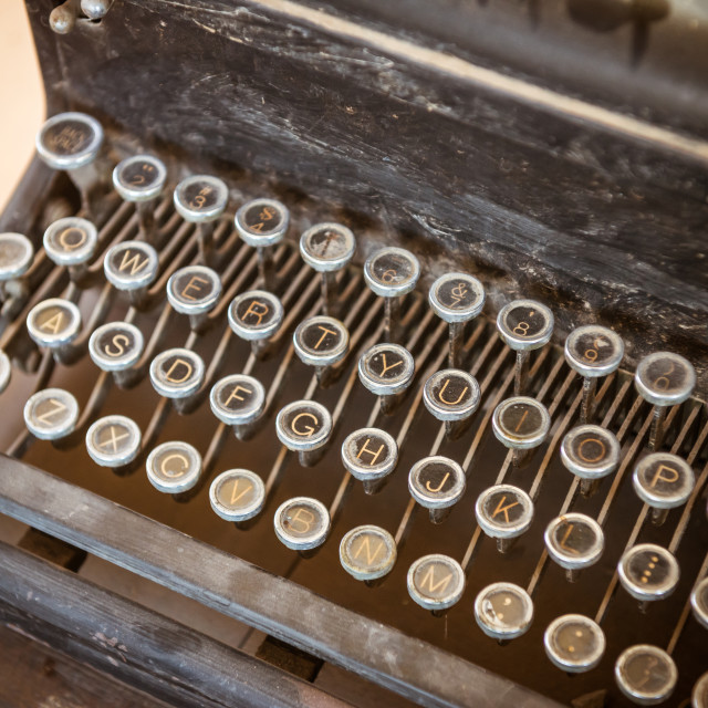 """""""Vintage black typewriter"""" stock image"""
