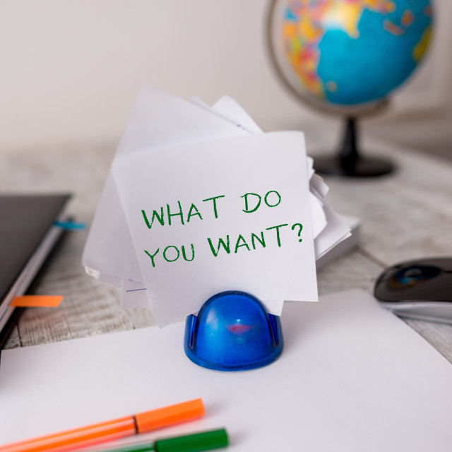 """""""Word writing text What Do You Want Question. Business concept for say or..."""" stock image"""