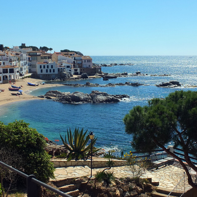 """Down To Calau Bay Of Calella De Palafrugell"" stock image"