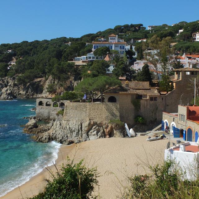 """Port Peligri Beach Of Calella De Palafrugell"" stock image"
